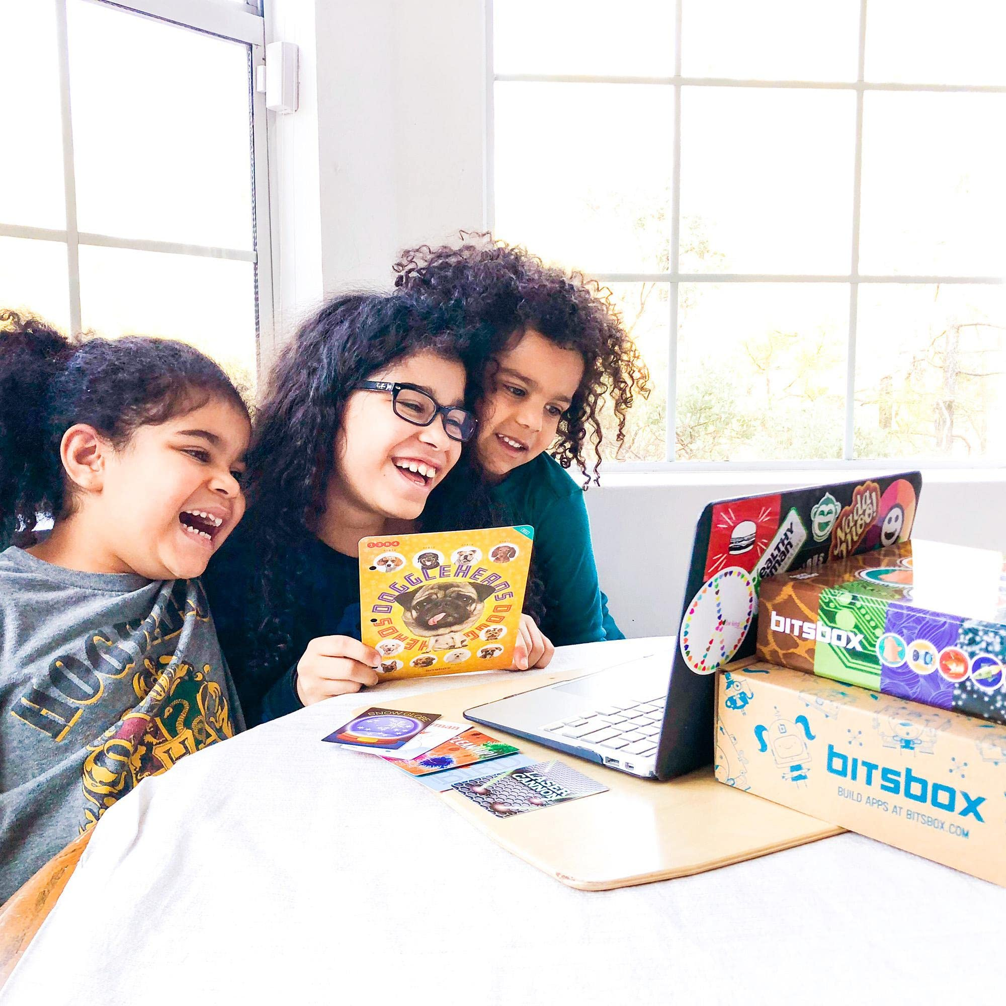 Kids learning with coding subscription box