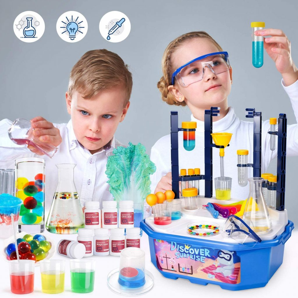 Kids having fun with chemistry